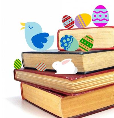 Książka z wielkanocnym jajaem