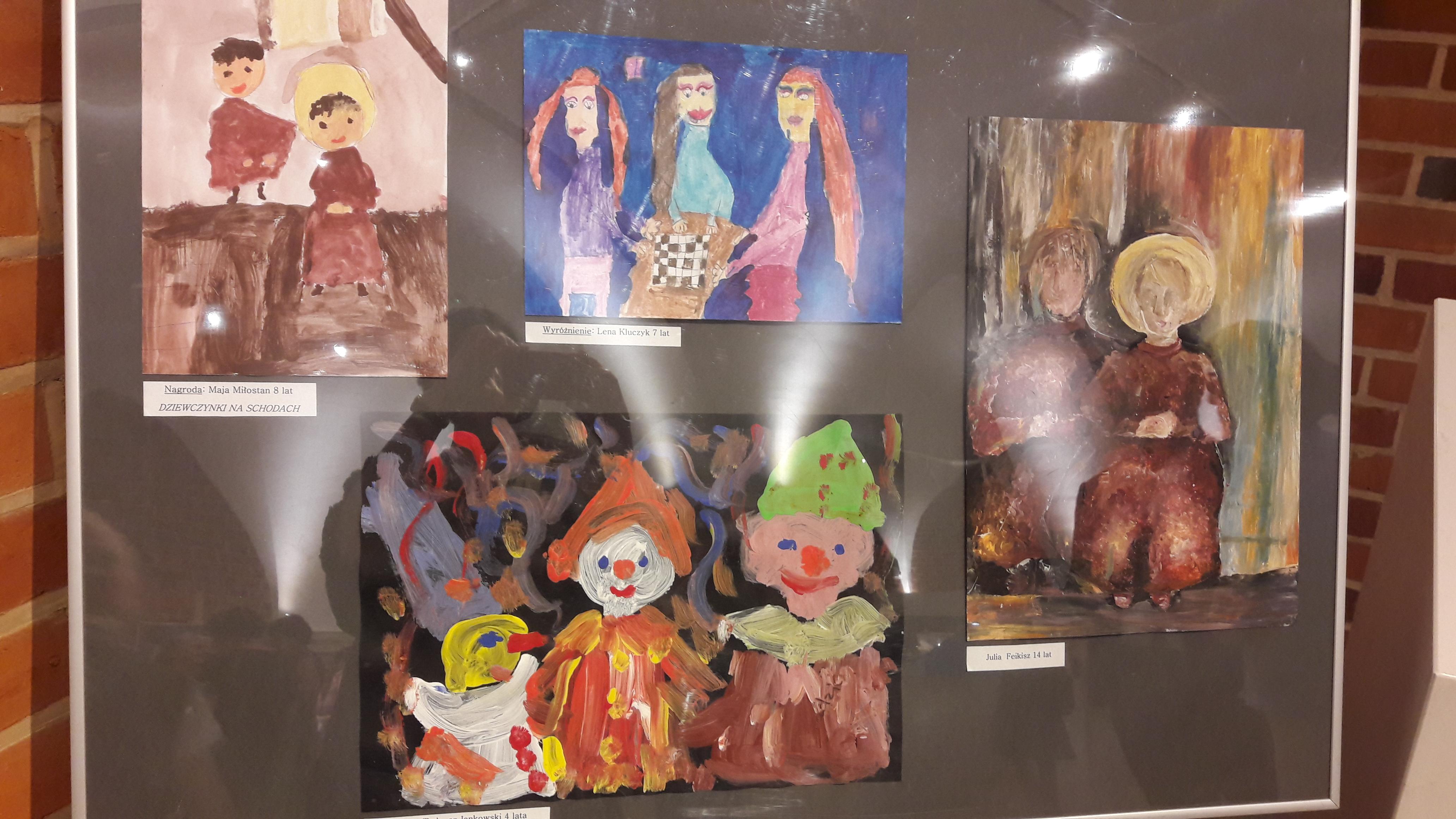Prace z naszej pracowni plastycznej w Muzeum Narodowym