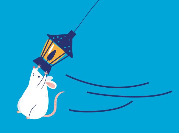 Wesoła chatynka -bajka o gościnnej myszce Skrobiszce