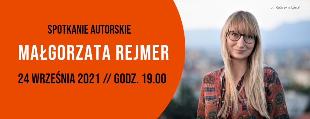 Na zdjęciu Małgorzata Rejmer, polska powieściopisarka i reportażystka. Autorem fotografii jest Katarzyna Lasoń.